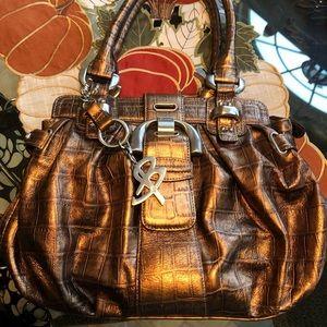 Bronze designer medium size handbag